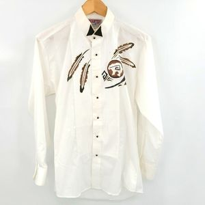 Wanted By Beads Beautiful Hand Painted Shirt